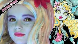 lagoona blue monster high doll costume makeup tutorial for