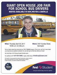 halton student transportation services serving the halton community 20 2017 giant open house job fair for school bus drivers