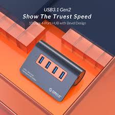 <b>ORICO</b> USB3.1 Gen2 HUB <b>Aluminum USB HUB</b> PC Splitter 10Gbps ...