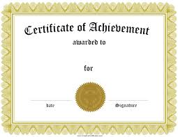 certificate templates certificate templates certificate of achievement templates and samples