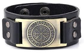 Vintage Nordic Viking Rune Vegvisir Compass Charm ... - Amazon.com