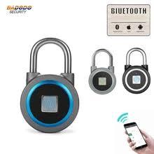 exquisite smart bluetooth padlock app unlock travel sports luggage door cabinet security anti theft