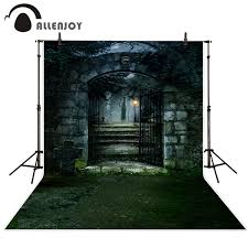 <b>Allenjoy photo background Halloween</b> scary Garden door grass ...