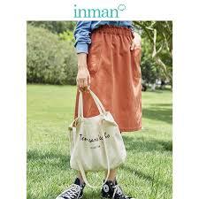 <b>INMAN 2019 Autumn New</b> Arrival Cotton Turn Down Collar Literary ...
