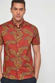 Buy <b>Men's Big Floral</b> Shirts from the Next UK online shop