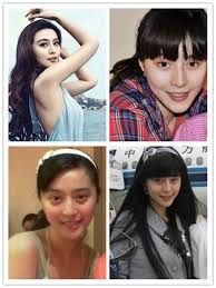 chinese stars without and with makeup 14