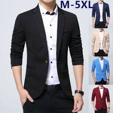 Fashion New Style <b>Men's Business</b> Casual Suit Blazers <b>Large Size</b> ...