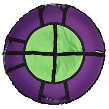 <b>Тюбинг Hubster Ринг Хайп</b> фиолетовый-салатовый, 100 см ...