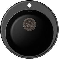 <b>Мойка кухонная GranFest</b> Quarz Z08 <b>черный</b> купить в магазине ...