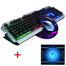 V1 <b>Wired Rainbow Backlit</b> illuminated Ergonomic Usb Gaming ...