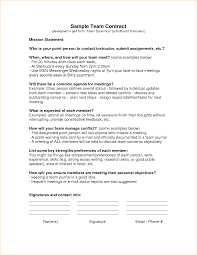 7 team contract template timeline template sample team contract doc by ylo13183