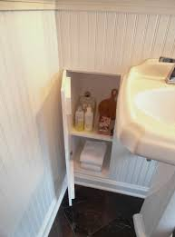 bathroom space savers bathtub storage: built in bathroom wall storage shelves are storing shampoo conditioner perfume bar