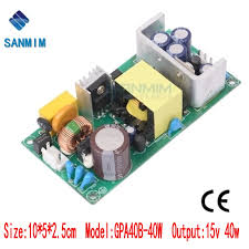 <b>Sanmim ac</b> dc power supply 40W <b>AC220V to</b> DC15V 2.7A switching ...