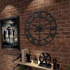 FRAMY Metal Wall Clock, Large Decorative Rustic ... - Amazon.com