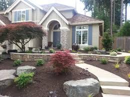 rocks landscaping decor house smart landscape design front yard design and decor unique front house