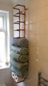 basket bathroom storage ideas creative copper shelves for towels  bathroom storage hacks and ideas that will
