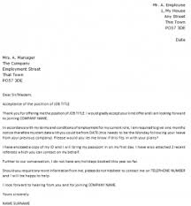 job offer acceptance letter example   icover org uk