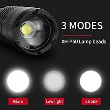 Super Bright Flashlight Rechargeable USB Zoomable ... - Amazon.com