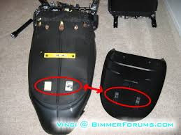 before you can unzip the seat cover you will need to remove the yellow sensor be very careful with this sensor as it is not very sturdy and could be bmw z3 set 2 seats