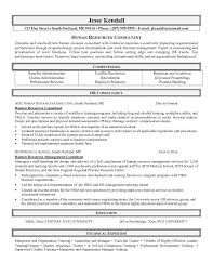 free human resources consultant resume example