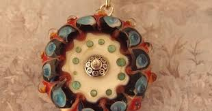 Mandala <b>Necklace</b>, Lampwork Glass Flower <b>Necklace</b>, Bohemian ...
