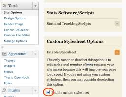 Change Customise Thesis     Theme Footer Appearance in WordPress WP Beaches thesis custom stylesheet