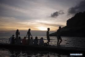 <b>Sunset scenery</b> on Green Island in China's Taiwan - Xinhua ...