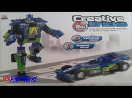 Toys for kid: <b>Creative</b> Bricks - Vehicle and Robot <b>2 in 1</b> - YouTube