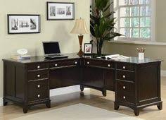 home office l shape pedestal desk in rich cappuccino finish by coaster home furnishings amazoncom coaster shape home office
