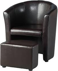 Tempo <b>Tub Chair with Footstool</b> - Expresso Brown: Amazon.co.uk ...