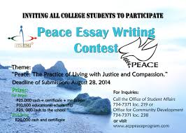essay writing contests essay contest main arellano university arellano university comdev don angel c palanca peace award peace