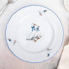 """<b>Тарелка десертная</b> 17 см """"<b>Рококо</b>. <b>Гуси</b>"""" (1639407) - Купить по ..."""