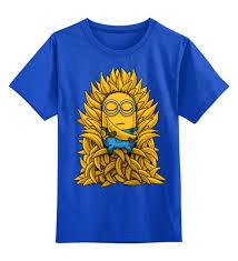"""Детская футболка классическая унисекс """"<b>Миньоны</b>. <b>Банана</b> Трон ..."""