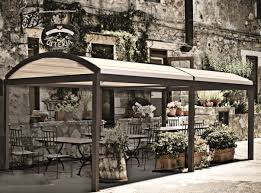 patio covering retractable awning prato curved retractable patio cover restaurant