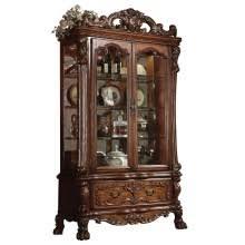 acme furniture dresden curio in cherry oak bandero office desk 100