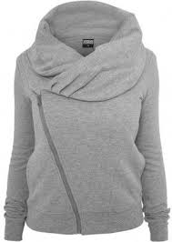 <b>Urban Classics Ladies</b> Asymetric Zip Zip Hoody grey in 2020 ...