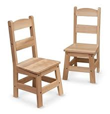 melissa doug solid wood chairs set of 2 light finish furniture for playroom amazoncom furniture 62quot industrial wood
