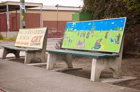 anti advertising agency bus stop bench anti advertising agency office