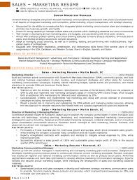 resume samples for s and marketing jobs marketing director 2