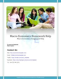 Economics Assignments and Economics Homework Help   My