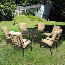 hexagon patio table with black patio furniture and cream cushion patio chairs medium size black and white patio furniture