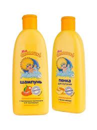 Шампунь для волос сочный мандарин + Пенка-гель для душа и ...