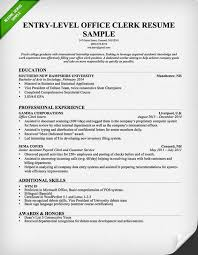 entry level office clerk resume   download this resume sample to    entry level office clerk resume   download this resume sample to use as a template for writing your own resume  free resource from resumegenius com