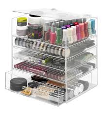plastic makeup organizer put bathroom: amazoncom whitmor  tier acrylic cosmetic and accessory organizer home amp kitchen