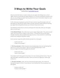 ways to write your goals 3 ways to write your goals by alex work yourgoalsetting