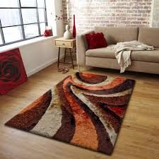 x plush wall: plush bedroom area rug in brown and orange  x quot ft