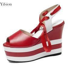 <b>Yifsion New</b> Stylish Women Platform Sandals Wedges High Heel ...