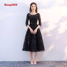 DongCMY <b>New Arrival 2019</b> Short Black Color Prom dress Tea ...