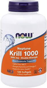 NOW Supplements, <b>Neptune Krill</b>, <b>Double</b> Strength <b>1000</b> mg