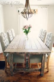 chair dining room tables rustic chairs: rustic dining table with tufted wicker emporium dining chairs nest of bliss